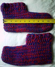 Men's Easy Crochet Slippers....this site has several slipper patterns for men women and children.