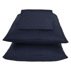 Stonehouse Queen Sheet Set, Navy Linen.
