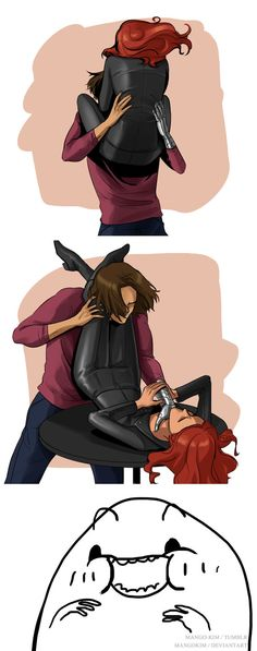 BUCKYS BOSS(idk why but i dont like black widow OR BUCKY AND HER TOGETHER!)