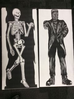 7 Foot FRANKENSTEIN and BONEY posters FROM the legendary comic book MONSTER ad #Houseoftheunusual