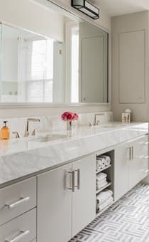 Beacon Street Residence, Master Bathroom   Bath  Contemporary by Elms Interior Design