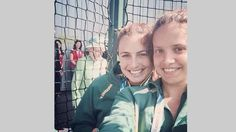 Day one produced 'the selfie of the Games'. The Queen 'photobombs' a selfie with Australian hockey players Jayde Taylor and Brooke Peris during a visit to the National Hockey Centre in Glasgow.