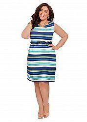 Linen Striped Sheath Dress