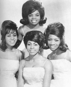 """The Blue Belles (1960–1963)  Cindy Birdsong, Sarah Dash, Patricia """"Patsy"""" Holt (Patti LaBelle) and Nona Hendryx"""