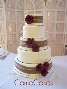 Maroon and Burlap, Corrie Cakes