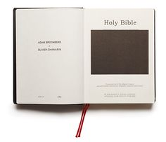 Holy Bible by Oliver Chanarin & Adam Broomberg