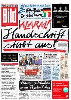 Un diario alemán alerta en su titular sobre el fin de la caligrafía.
