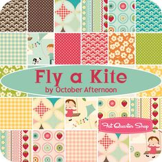 Fly a Kite by October Afternoon for Riley Blake, due in Jan 2012. I don't usually go to gingham, but this a cute line.