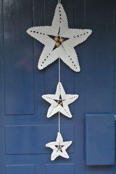Risultati immagini per Christmas star macrame