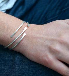 Sterling Silver Cuff Bracelet - Set of 2