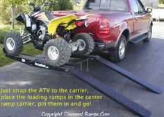 Hitch Mounted Go Cart & ATV Carrier with Loading Ramp : Amazon.com : Automotive