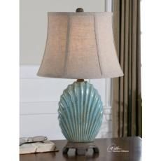 Shop for Uttermost Seashell Resin Ceramic Metal and Fabric Floor Lamp. Get free delivery On EVERYTHING* Overstock - Your Online Lamps & Lamp Shades Store! Get in rewards with Club O! Blue Table Lamp, Ceramic Table Lamps, Uttermost Lighting, Living Room End Tables, Living Rooms, Buffet Lamps, Lamp Sets, Coastal Decor, Coastal Cottage