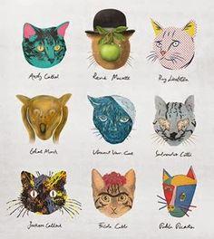 Arteeblog: História da Arte - por gatos - hahaha