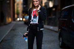 New York Fashion Week Spring 2016 Street Style, Day 8 - New York Fashion Week Spring 2016 Street Style, Day 8-Wmag