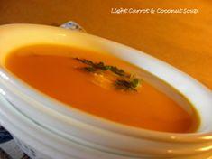 Zuppa leggera di carote e di cocco