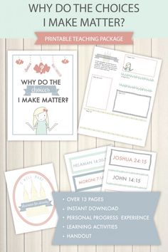 "February LDS Come Follow Me lesson helps for PLAN OF SALVATION. This is for the lesson, ""Why do the choices I make matter?"". So cute and filled with great material!"