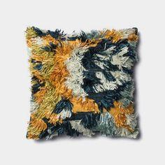 Fable Marine Blue and Gold Pillow by Justina Blakeney® X Loloi Gold Decorative Pillows, Gold Pillows, Accent Pillows, Pillow Set, Throw Pillow Covers, Pillow Talk, Bauhaus, Art Nouveau, Rya Rug