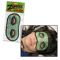 Archie McPhee Store - Zombie Sleep Mask - It will fool zombies that wander by while you're sleeping into thinking you're a zombie. Plus, you'll get left alone on planes. @Katesia Blackmon,,lol