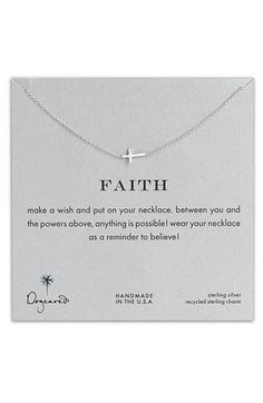 Dogeared 'Reminder - Faith' Pendant Necklace   Nordstrom
