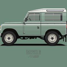 Series 3 Station Wagon 88 Light Green @redbubble #redbubble #landrover #landy #car #automotive #vehicle #truck #merchandise #sale #oldschool #live #landroverseries #vector #illustration #ARVwerks