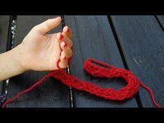 Fingerstricken - Stricken mit den Fingern - Anleitung - YouTube