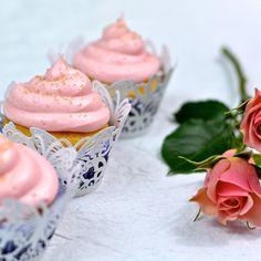 Rose Water & Vanilla Bean Cupcakes