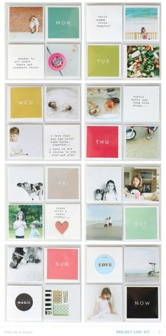 Oh Project Life. As you've probably read and seen, I'm taking a different route for my Project Life this year . Project Life Album, Project Life Layouts, Project Life Cards, Album Design, Book Design, Sketchbook Layout, Photography Sketchbook, Pocket Scrapbooking, Scrapbook Layouts