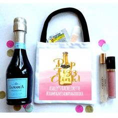 Champagne Hangover Bags. Pop Fizz Clink  Champagne party favors. oh shit kits!