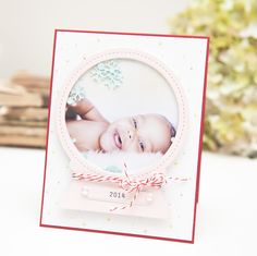 Snow Globe Shaker Card by Ashley Cannon Newell for Papertrey Ink (September 2014)