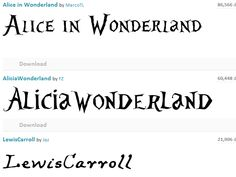 Alice in Wonderland Font Style | Alice in Wonderland Font ...