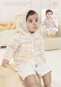 Knitting Pattern Baby cardigans   sirdar 1392   size 0-7yrs  new by Bobbinswool on Etsy