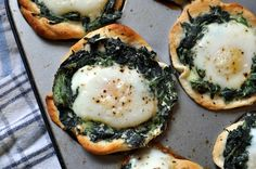 spinach, egg, and biscuit breakfast cups!