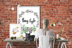 """Store launches with """"not your mother's"""" inspirational pop culture posters.  #downloadable #art #moreissuesthanvogue #vogue #art #design #coolposters #poster #shop #goldfoil #gold #floral #watercolour #watercolor #thug #life #gangster #gangsta #britney #betterwork #betch"""