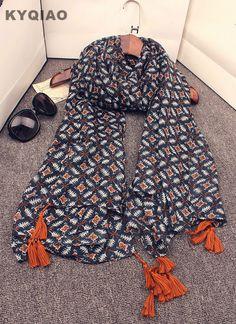 Pas cher KYQIAO Designer hijab écharpe Mori filles automne hiver Corée Du  Sud de mode longue 17d83deb582