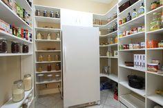 Modern Pantry with Concrete tile , Martha Stewart Living 30 in. Classic White Corner Shelf (3-Pack), Built-in bookshelf