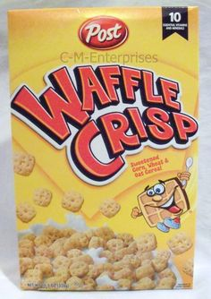 Post Waffle Crisp Cereal. I've been looking for this cereal for god knows how long. Next time I find it, I'm going to stock up on it.