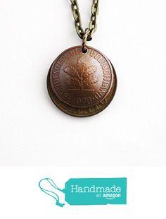German Coin Necklace Domed Layered 10 Pfennig 1950 2 Pfennig 1978 from Hendywood http://www.amazon.com/dp/B01AQSFXWK/ref=hnd_sw_r_pi_dp_UQ8Mwb1Y7853N #handmadeatamazon