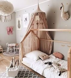 Happy Wednesday everyone! We love this gorgeous kid's room by @3elfenkinder  Vita Eos lamp, Rosaline doll bed and Maileg soft bunnies are all available in our online store  . #kidsroom #kidsroomdecor #nordichome #nordicinspiration