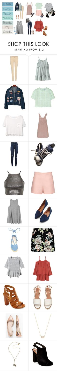 """Untitled #385"" by alyroxmaxxx ❤ liked on Polyvore featuring Seed Design, 7 For All Mankind, Chicnova Fashion, T By Alexander Wang, MANGO, Topshop, Paige Denim, Converse, Miss Selfridge and Valentino"