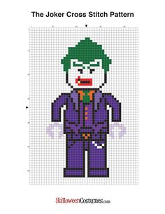 HA HA HA HA HA HA HA! Free Lego Batman Cross Stitch Patterns - The Joker