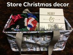 Keep your holiday décor stored away in a medium utility tote where it will stay dust free and be easy to carry to whatever room you are decorating.