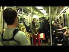 SAX BATTLE in NYC SUBWAY FULL VERSION ALL CAMERAS - YouTube