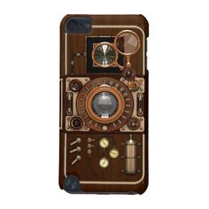 Vintage Steampunk TLR Camera iPod Touch 5G case #Steampunk #iPod