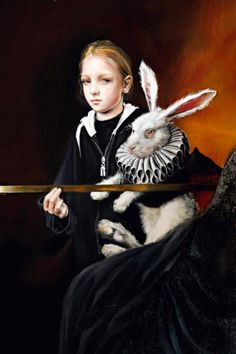 Alice in Wonderland by Margo Selski Lewis Carroll, Lapin Art, Chesire Cat, Bunny Art, Arte Horror, Adventures In Wonderland, Pop Surrealism, Through The Looking Glass, Fairy Tales
