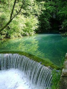 Krupaj karstic spring, a natural monument in Serbia (by gavrilovic.bojan).