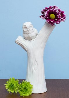 Perch Tree Vase Will definitely need some flowers to brighten the room occasionally