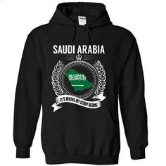 Saudi Arabia - Its Where My Story Begins - #pink sweatshirt #mens shirt. PURCHASE NOW => https://www.sunfrog.com/States/Saudi-Arabia--Its-Where-My-Story-Begins-carfsiqotn-Black-Hoodie.html?id=60505
