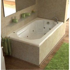 Beau The Mirage 3660MWL Whirlpool Bathtub Is A Drop In Tub With A Rectangular  Exterior And