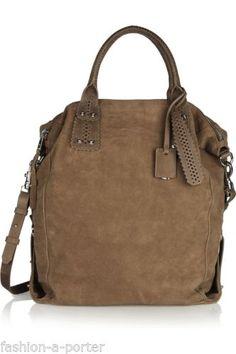 Mcq By Alexander Mcqueen Stepney Brogue Suede Tote Shoulder Bag Bnwt