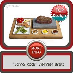 Lava rock servier Tablett